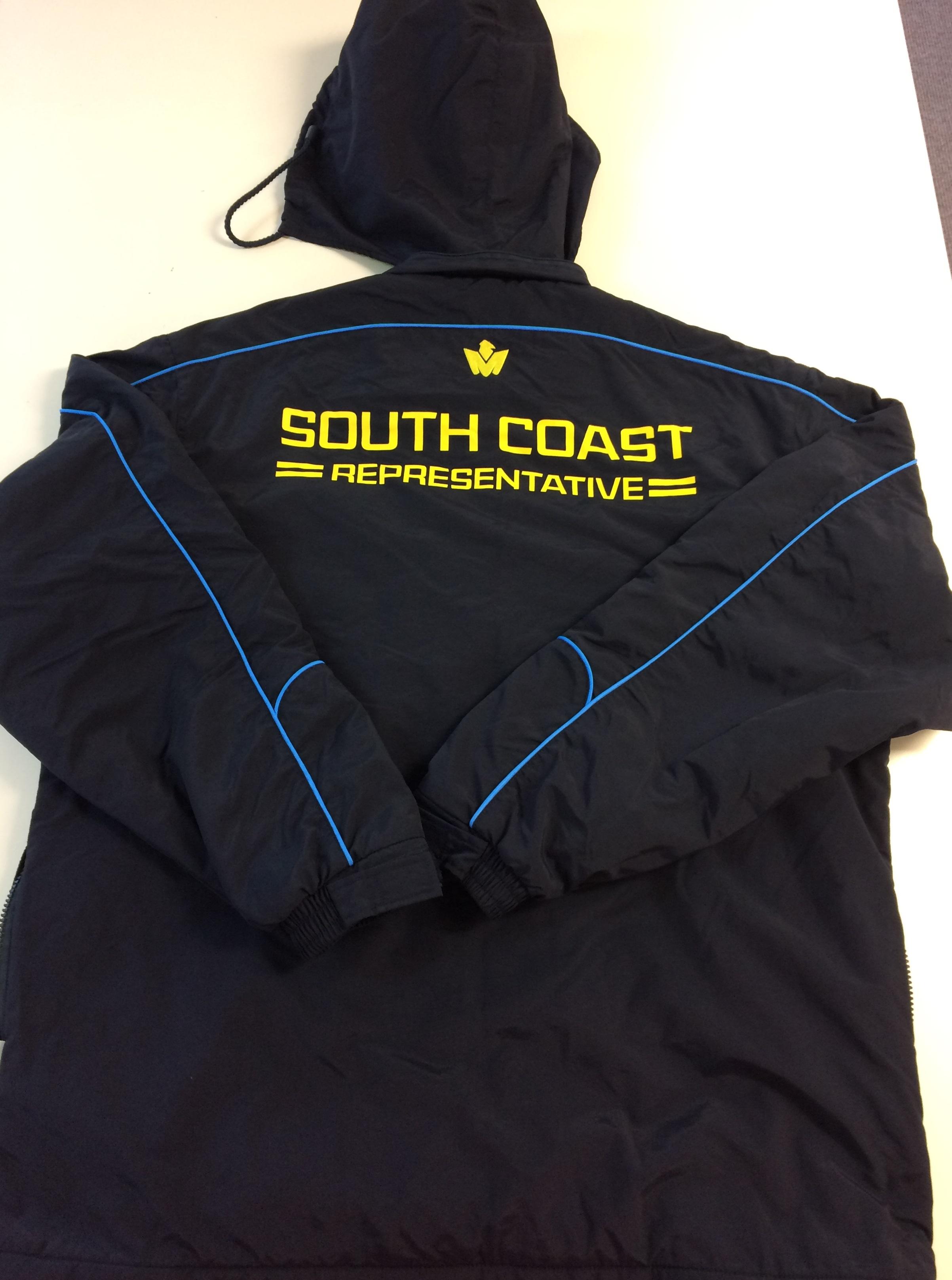 South Coast all weather tracksuit jacket back