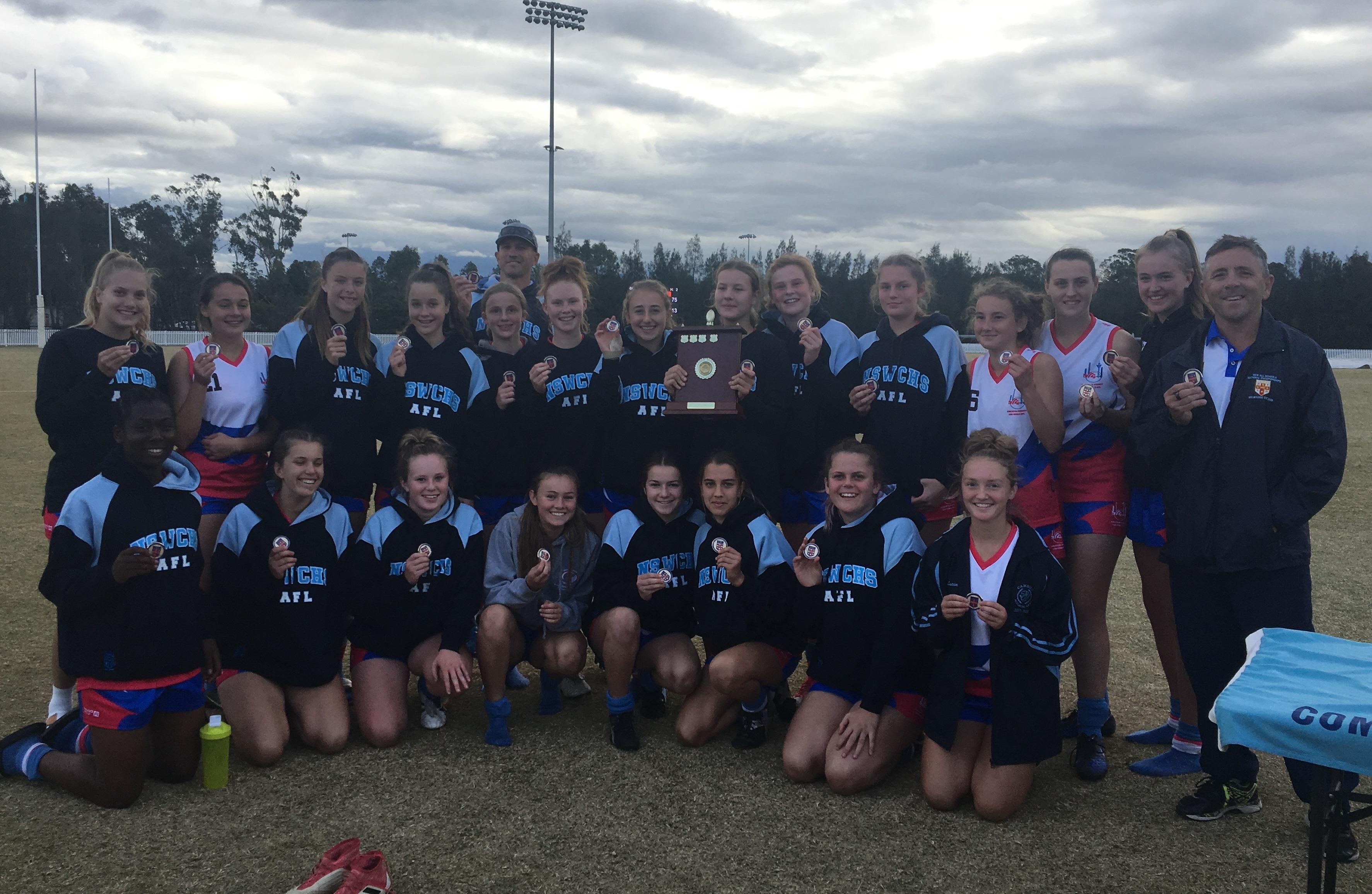NSW All Schools U15 AFL Girls Trials Winners