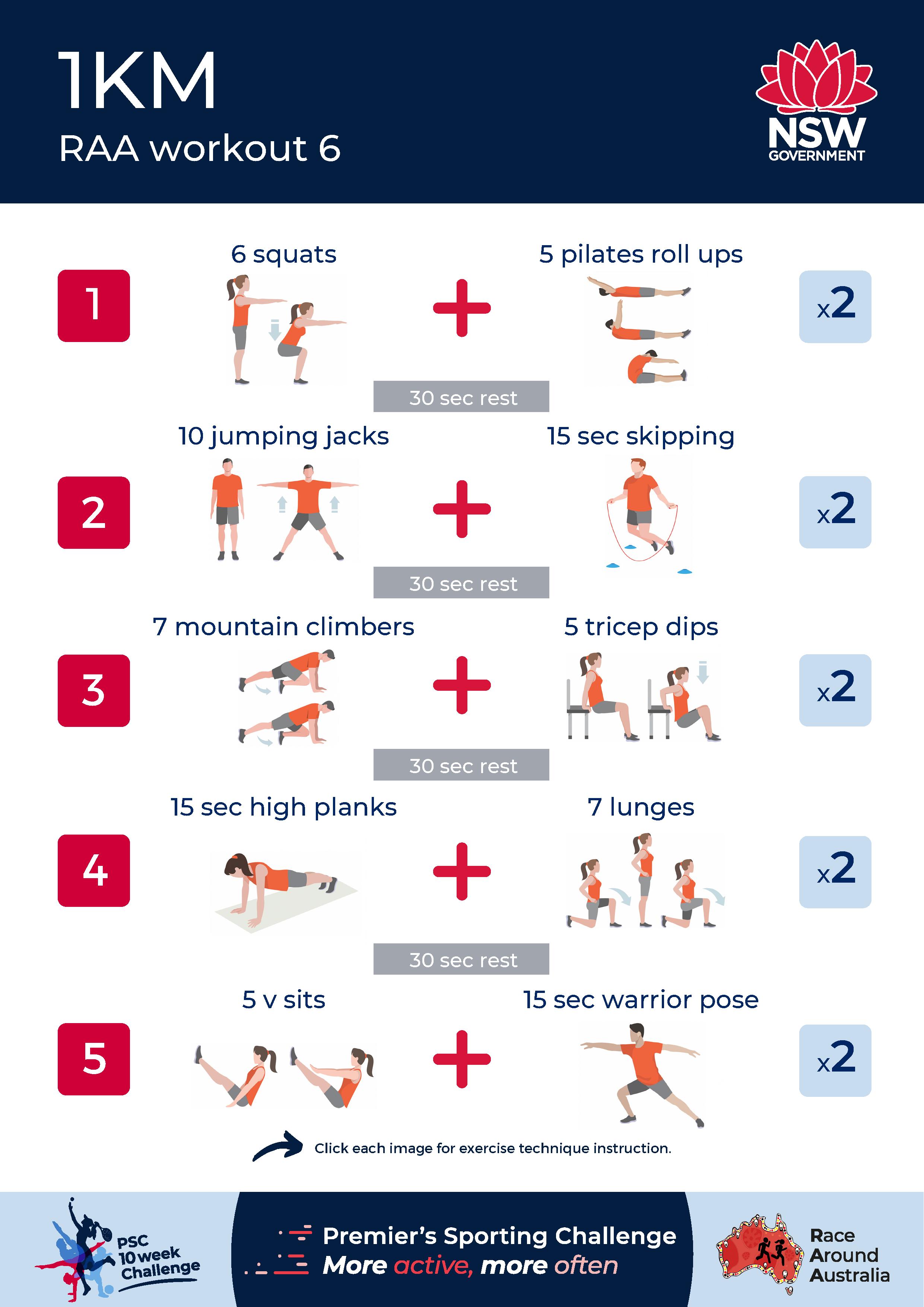 1km workout set preview image