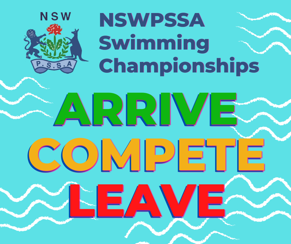 NSWPSSA Swimming Diving Arrive Compete Leave