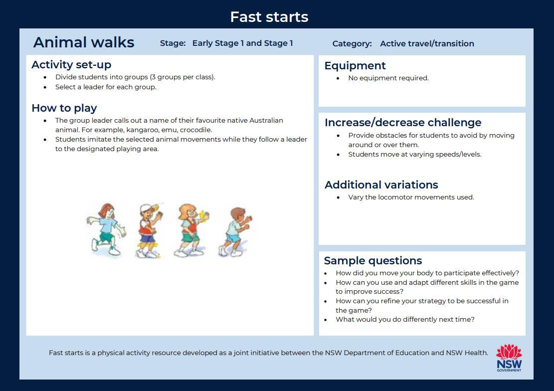 Fast start - Animal Walks - image