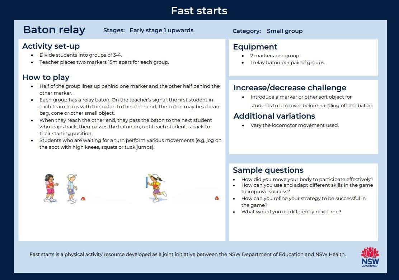 Fast start - Baton Relay - image