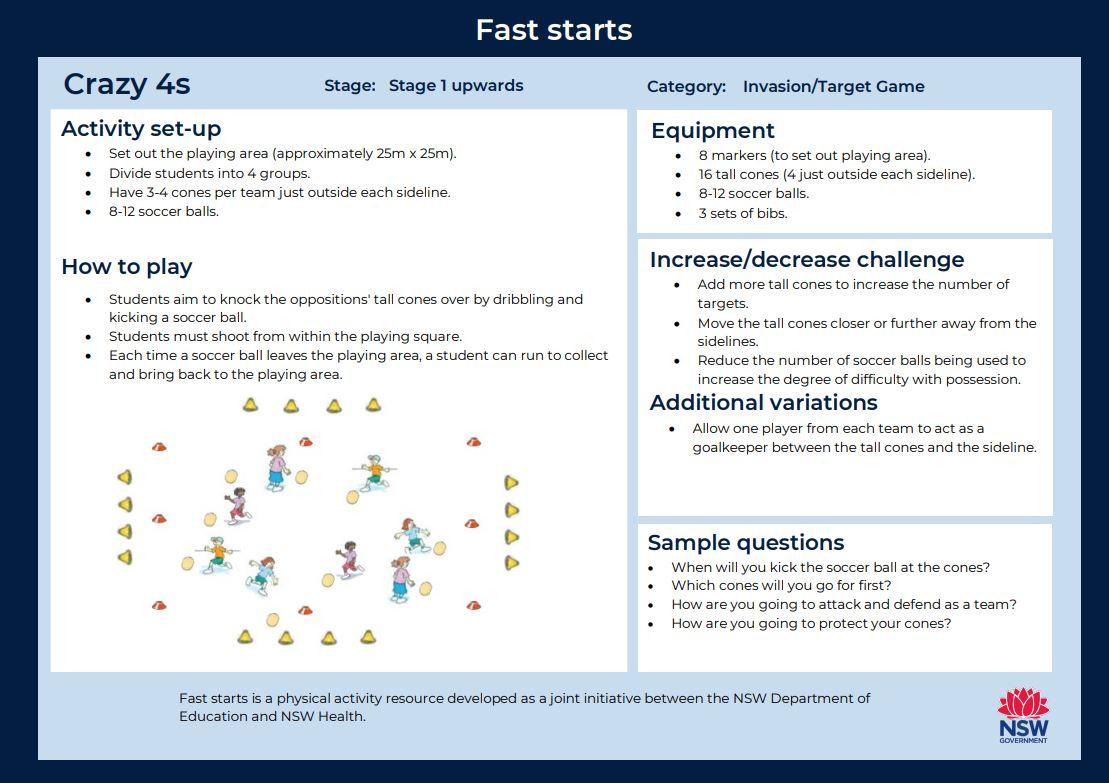 Fast start - Crazy 4s - image