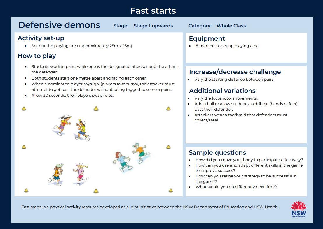 Fast start - Defensive Demons - image