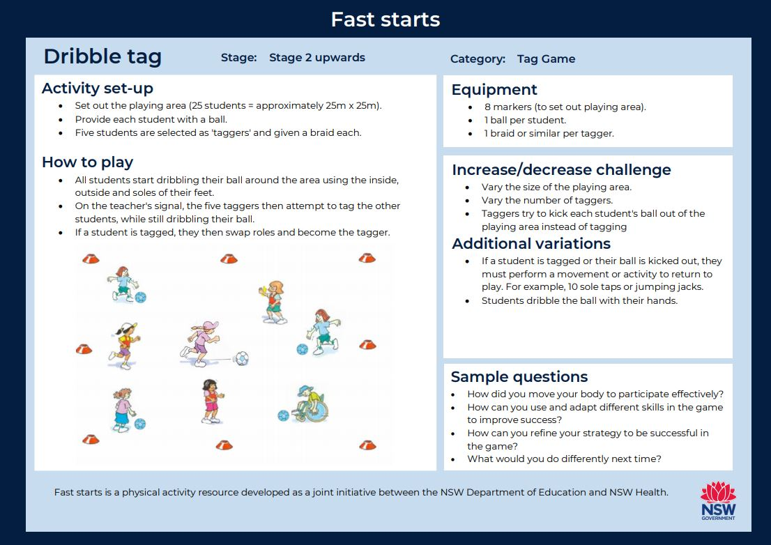 Fast start - Dribble Tag - image