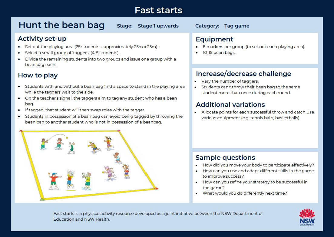 Fast start - Hunt the Bean Bag - image