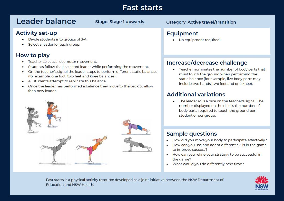 Fast start - Leader Balance - image