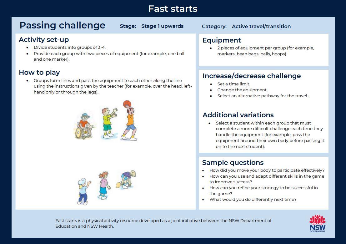 Fast start - Passing Challenge 1 - image