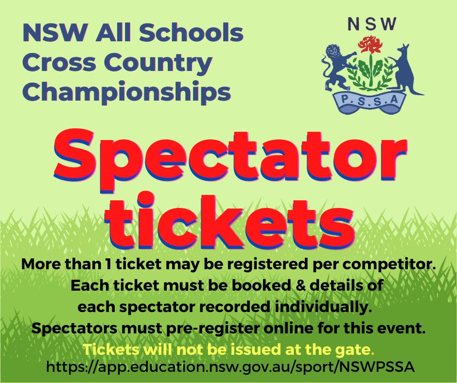 All Schools XC Tickets