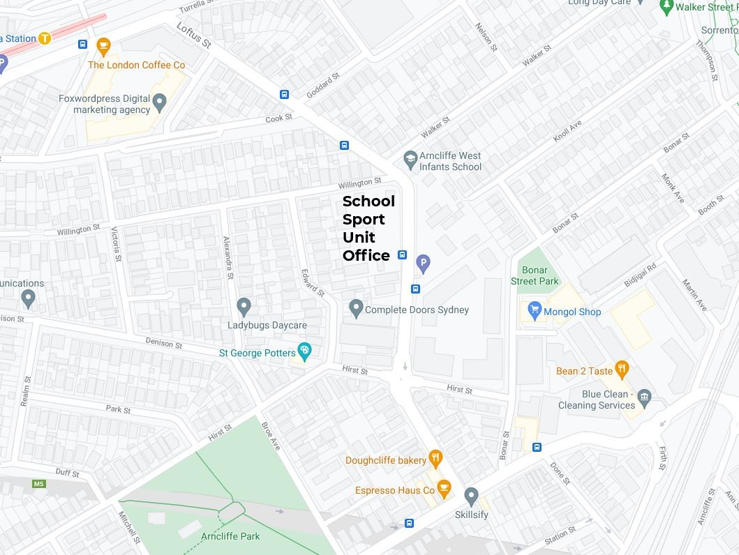 School sport office location map