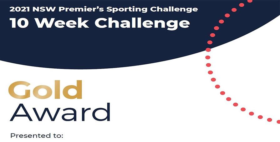 PSC 10 week challenge Gold award image