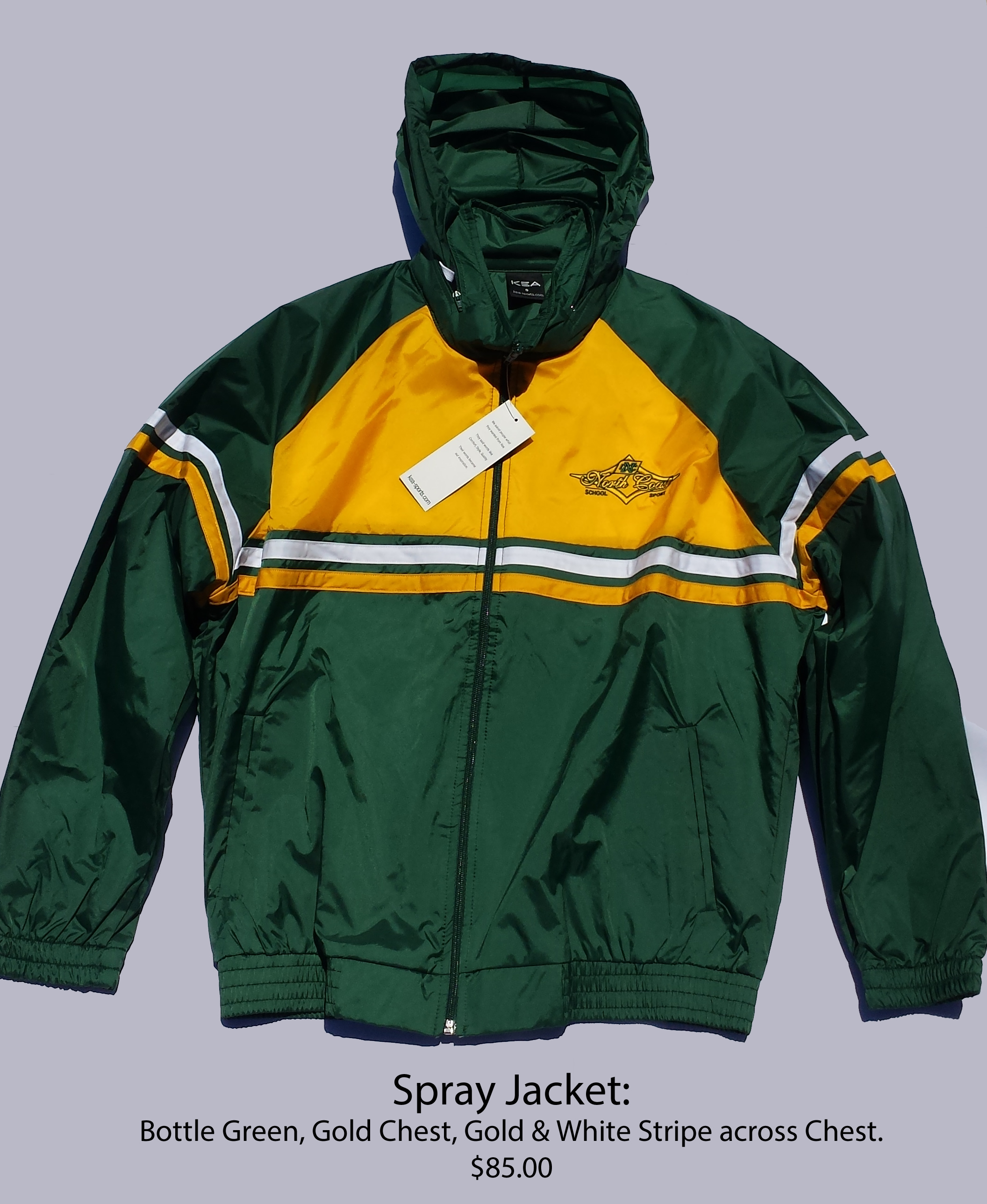 North Coast Spray Jacket $85.00