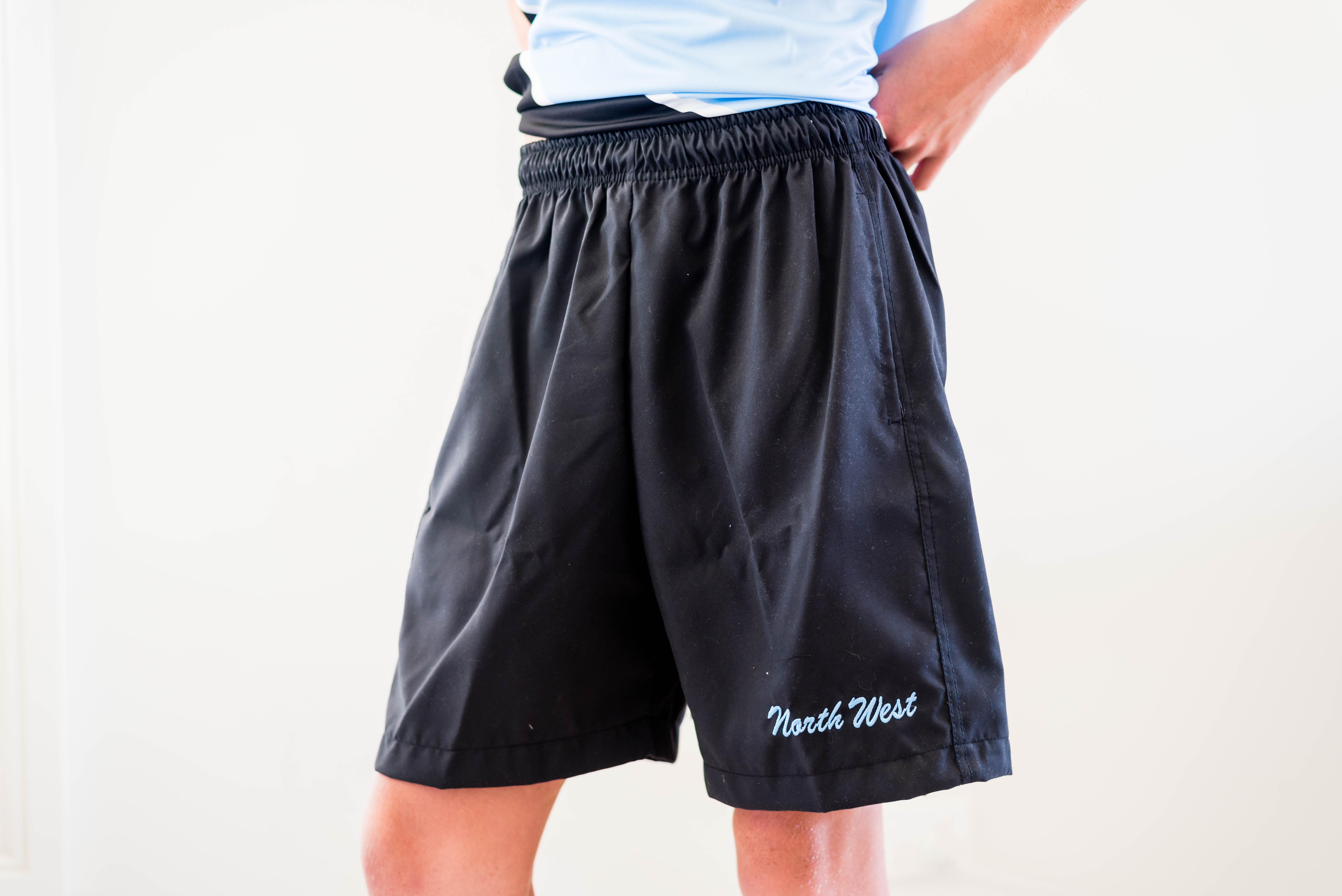 NW  black micro shorts